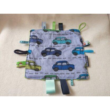 Spiel- und Entdeckungstuch Auto blau