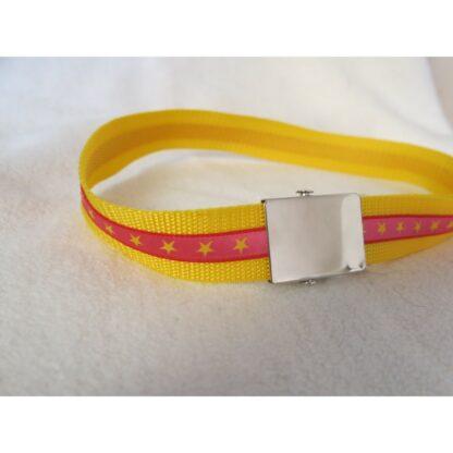 Kindergürtel Sernli rosa - gelb 84