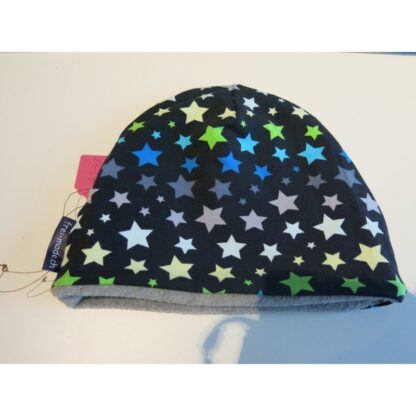 Mütze dunkelblau mit Sternen