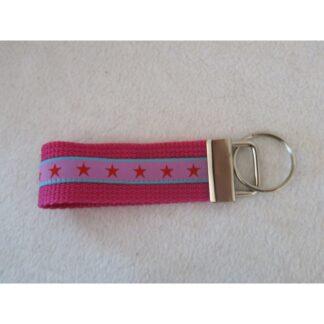 Schlüsselanhänger Sterne pink