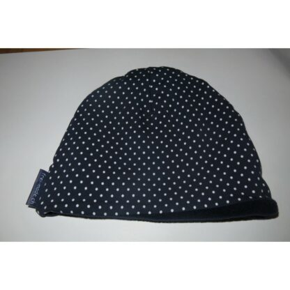 Mütze dunkelblau mit weissen Punkten