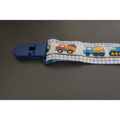 Nuggi-/Spielzeugband Fahrzeuge blau