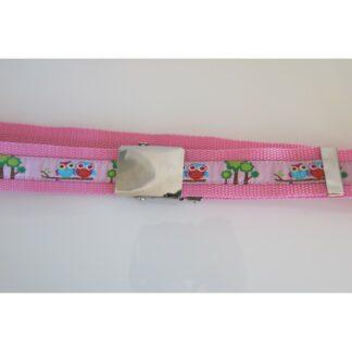 Kindergürtel Eulen rosa