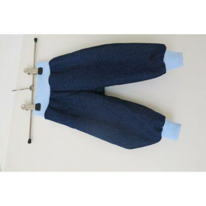 dünner Jeans - Pumphose Bündchen hellblau Gr. 62