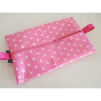 Feuchttücherhülle rosa Sterne