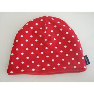 Mütze dunkelblau pink gestreift