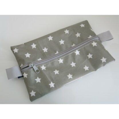 Feuchttücherhülle graue Sterne