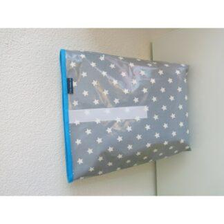 Lunchbag XL Sterne grau