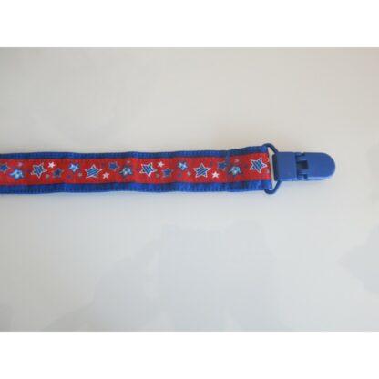 Nuggi-/Spielzeugband Sterne blau rot
