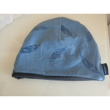Mütze blau Federli