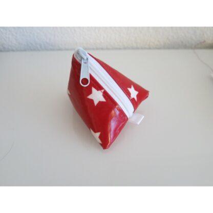 Nuggitäschli, Pyramidentasche rot Sterne