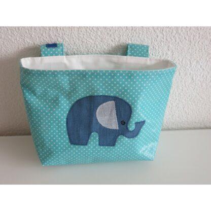 Lenkertasche Elefant aqua sky