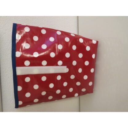 Lunchbag XL rot mit weissen Punkten