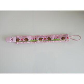 Nuggi-/Spielzeugband Igeli rosa