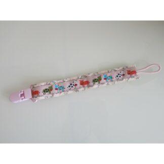 Nuggi-/Spielzeugband Tiere rosa
