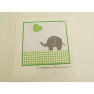 Elefantenkarte grün