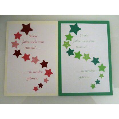 Sternenkarte grün, blau, gelb, pink