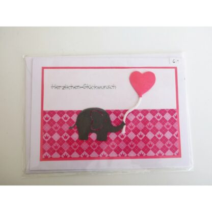 Elefantenkarte pink