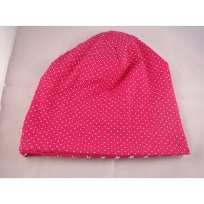 Baby/Kindermütze Sterne/Punkte pink