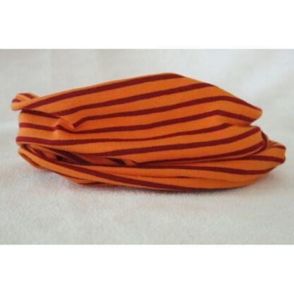 Loop orange rot gestreift