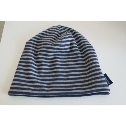 Mütze schwarz grau gestreift