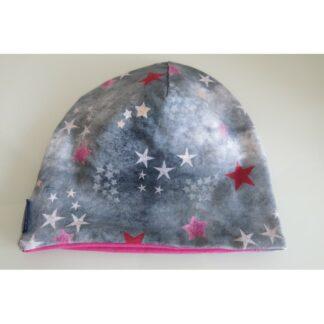 Mütze Sterne pink/rosa