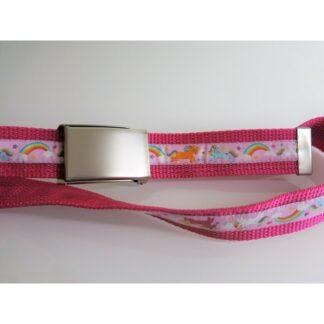 Kindergürtel Einhorn pink