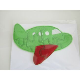Flugzeug Puzzle grün - rot