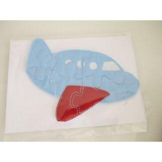 Flugzeug Puzzle hellblau