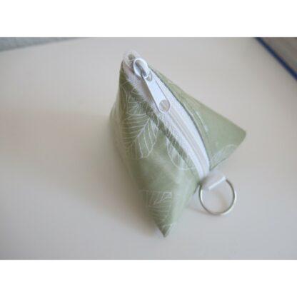 Nuggitäschli, Pyramidentasche grün Blätter