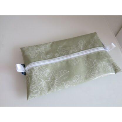 Feuchttücherhülle Blätter grün