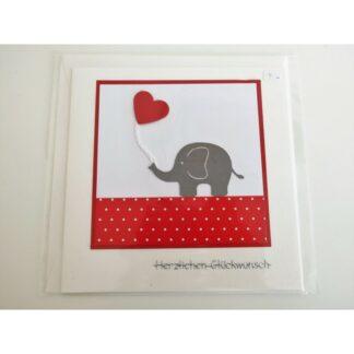 Elefantenkarte rot