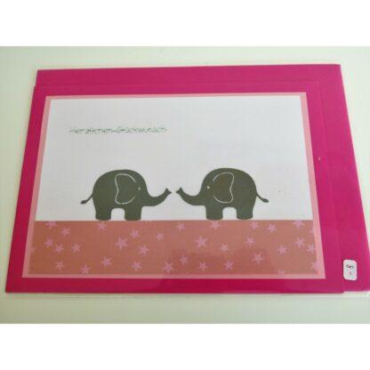 Elefantenkarte pink 2
