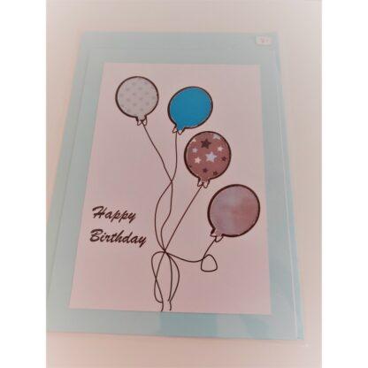 Karte Geburtstag Ballone