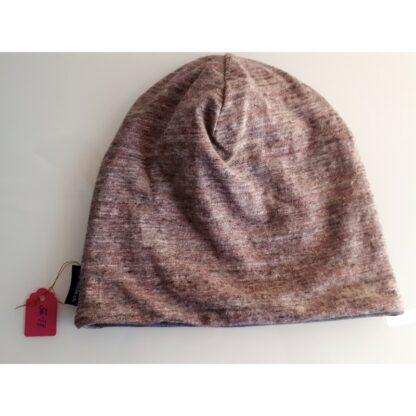 Mütze rosa meliert (grau)