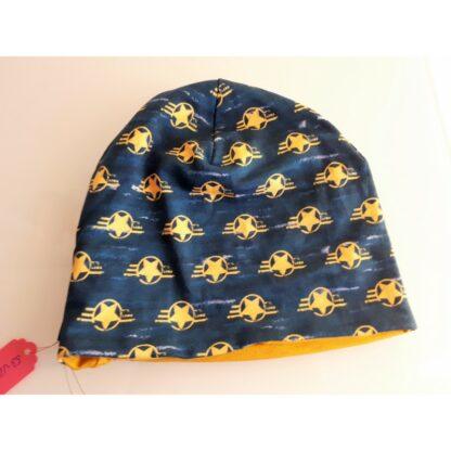 Baby/Kindermütze gelbe Sterne