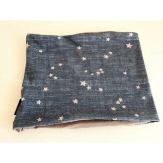 Loop jeansblau mit grauen Sternen